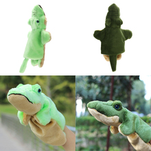 Lovely Crocodile Plush Toy Hand Puppet Baby Kids Kindergarten Story Toy Developmental Soft Stuffed Doll Toy Xmas Gift 2 Colors