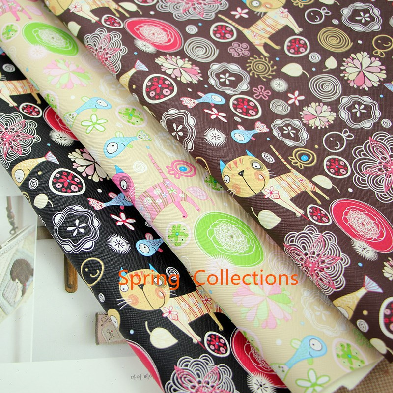 Leather Or Fabric Sofa With Cats: 100*136cm Hc Cat Soft PU Leather Fabric For Sewing PU