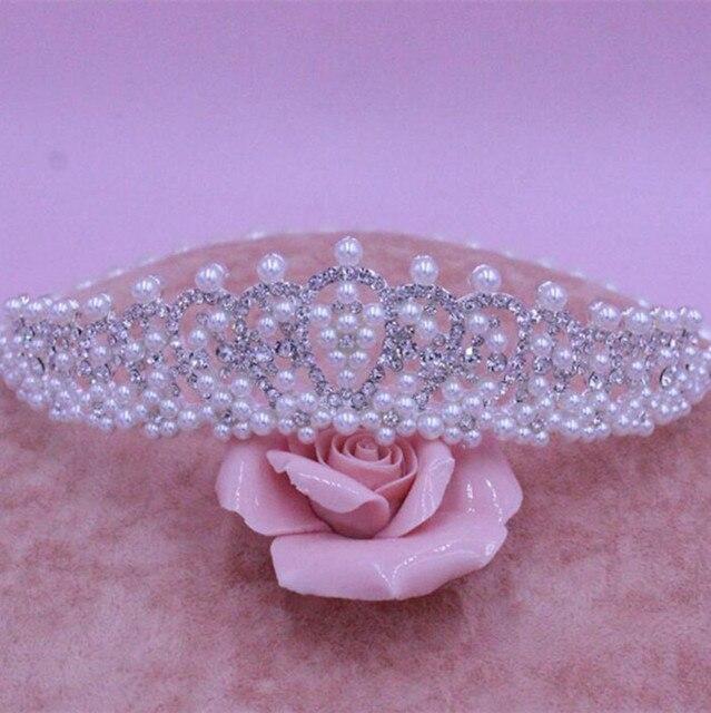 Enchanting  HOT Elegant Sparkly Lmitation Crystal Rhinestone Crown Tiara Wedding Prom Bride's Headband MYQC008