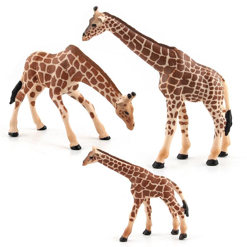 japanese anime dolls model kit action figure anime toys set for Boys plastic animals giraffe baby educational toys for children in Action Toy Figures from Toys Hobbies