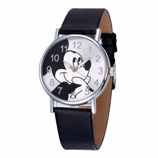 Children Cartoon Cute Mouse Watch Dress Baby Clock Quartz Ladies Women Girls Wat