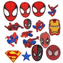 1Pcs New Arrival Cartoon Costume Face Parches Patch Batman Character Biker Badge Figure Vest Jacket Sticker