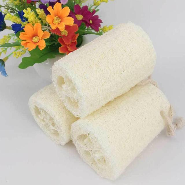 Natural Loofah Body Scrub Sponge Bath Rub Cleaning Exfoliating Scrubber Tool for Whole Body Healthy Massage Brush