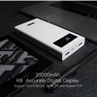 20000mAh Digital Display Power Bank Portable Size Outdoor Travel Battery Charger Power Supply For Android Phone