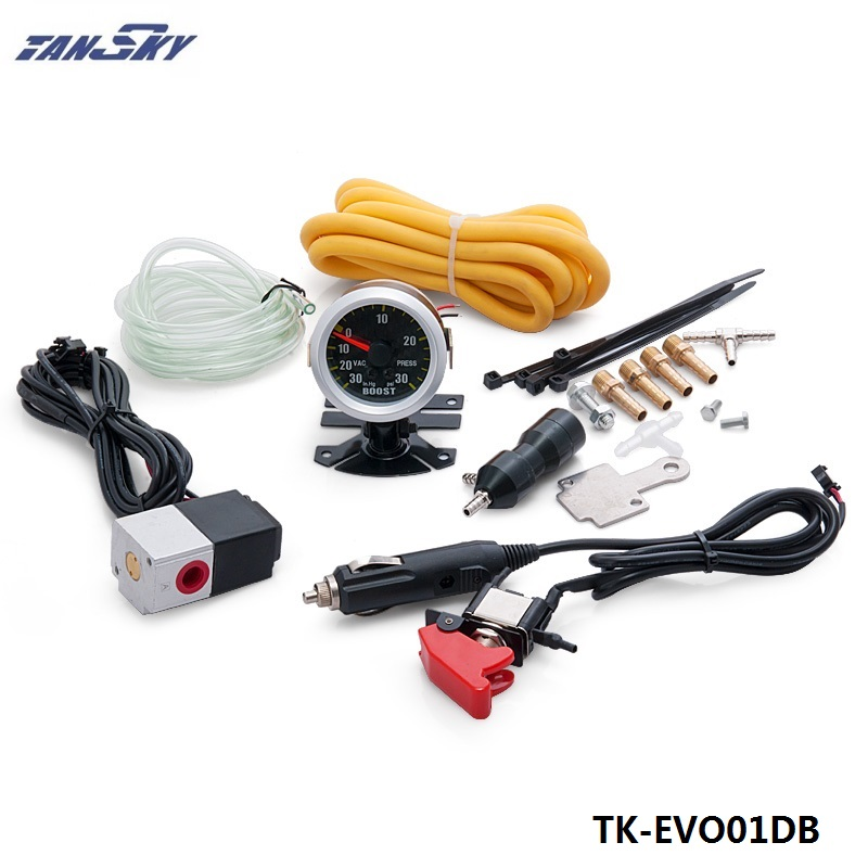 TANSKY- TURBO Manual Boost Controller Dual Stage Upgrade Kit NEW Release with gauge For Jeep Wrangler TK-EVO01DB epman turbo boost pipe intake turbo charge pipe cooling kit for bmw 1 f20 f30 f31 n20 320i 328i 125i ep f20tk003p