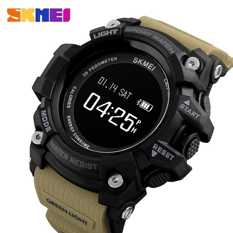SKMEI 1188, Профессиональные Водонепроницаемые Смарт мужские часы, Bluetooth Камера, фитнес трекер для сна, сообщения, напоминания о звонках, мужские наручные часы - 6