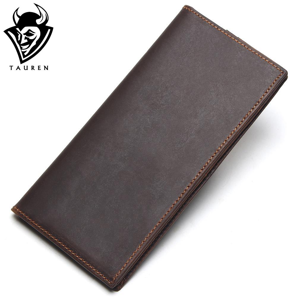 Crazy Horse Leather Men Real Leather Wallets Retro Men Coin Purse Money Loog Genuine Leather Wallets Card Holder Male Wallet joyir men crazy horse leather wallet genuine cowhide men wallets vintage men s purse card holder coin pocket wallets money purse