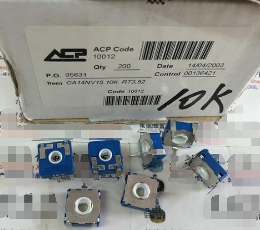 5pcs/lot Original Spot Spain ACP CA14NV15 10K RT3.52 Square Adjustable Potentiometer 10K D Hole