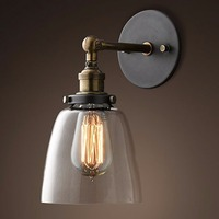 Glass Wall Lamp Vintage Retro Loft Style Freeship With Well Box Packing 110 260V E27 Fit