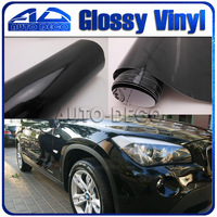 High Black Glossy Sticker Car Film Diy Change Color Wrapping Foil Size 1 52 30m