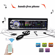 Car Radio Stereo Player Bluetooth Phone AUX-IN MP3 FM/USB/1 Din/remote control For Iphone 12V Car Audio Auto 2016 Sale New 520