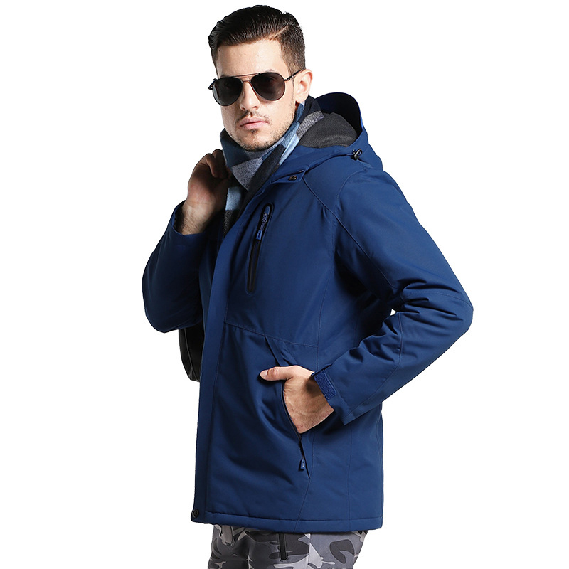 Północnej zima mężczyźni kurtka USB ogrzewanie kobiety wodoodporna kurtki pilotki 2019 na zimno zewnątrz Sport Parka płaszcze twarz wiatroszczelna ubrania w Parki od Odzież męska na  Grupa 3