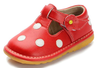 baby girls squeaky shoes PU T-strap polka dots shoes first walkers squeakers for kids 1-5 years boutique zapato chaussure new