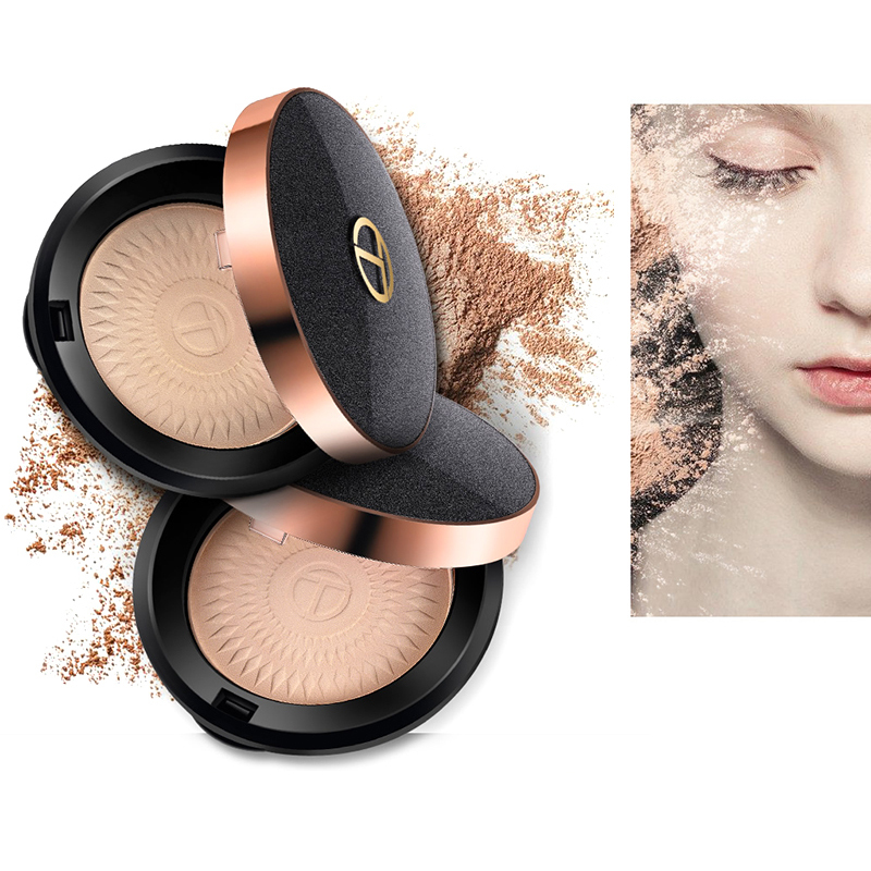 O.TWO.O Natural Powder 2Colors Faces Makeup Foundations Oil-control Brighten Concealer Whitening Waterproof Face Pressed Powder wodwod face powder matte loose powder waterproof brighten concealer oil control make uo blusher blush