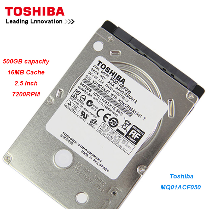 "Original Toshiba 500GB  Hard Drive Disk MQ01ACF050 SATA High speed 7200RPM 16MB Cache 7mm  2.5"" Internal  Hard Drive for Laptop-in Internal Hard Drives from Computer & Office    1"