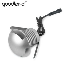 Goodland-Luz LED enterrada a prueba de agua, 3W, luz subterránea, 12V, 24V, lámpara de suelo para paisaje, iluminación de patio y camino al aire libre