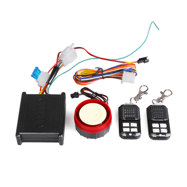 12v Motorcycle Safety Security Vibration Sensor Alarm Universal Remote Car Alarm Systems with 2 Remote Control Free Shipping