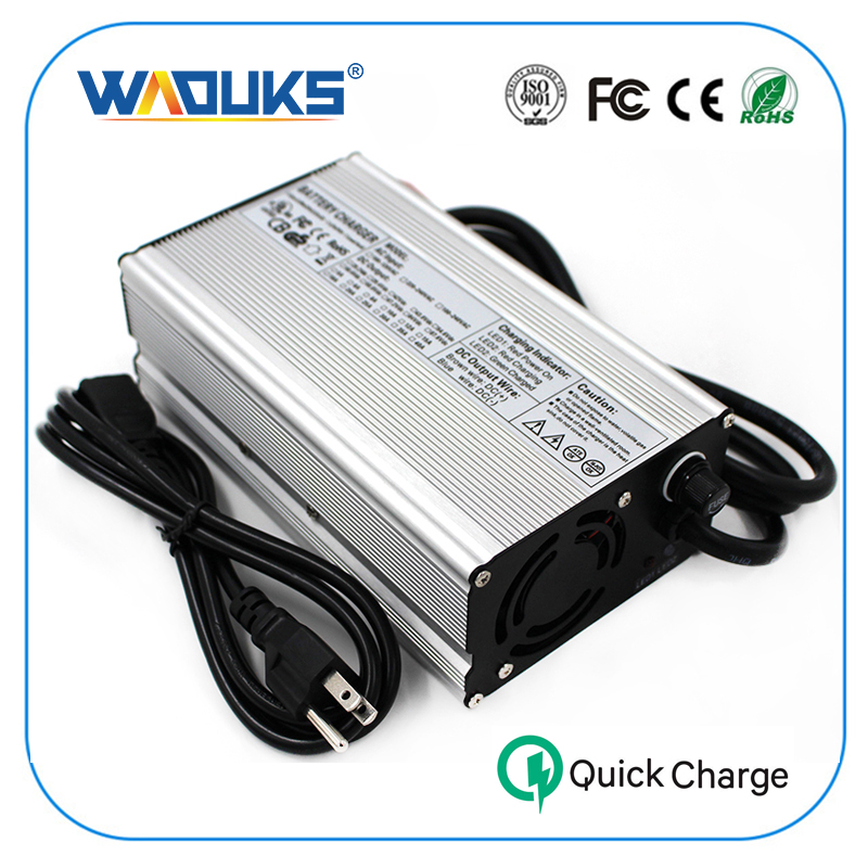 54 6V 10A Charger 13S 48V Li ion Battery Smart Charger High Power With Fan Aluminum