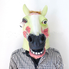Free shipping Animal Party Cosplay Hot sale realistic Zombie horse mask/Scary horse mask/Brown Horse Head Mask in stock
