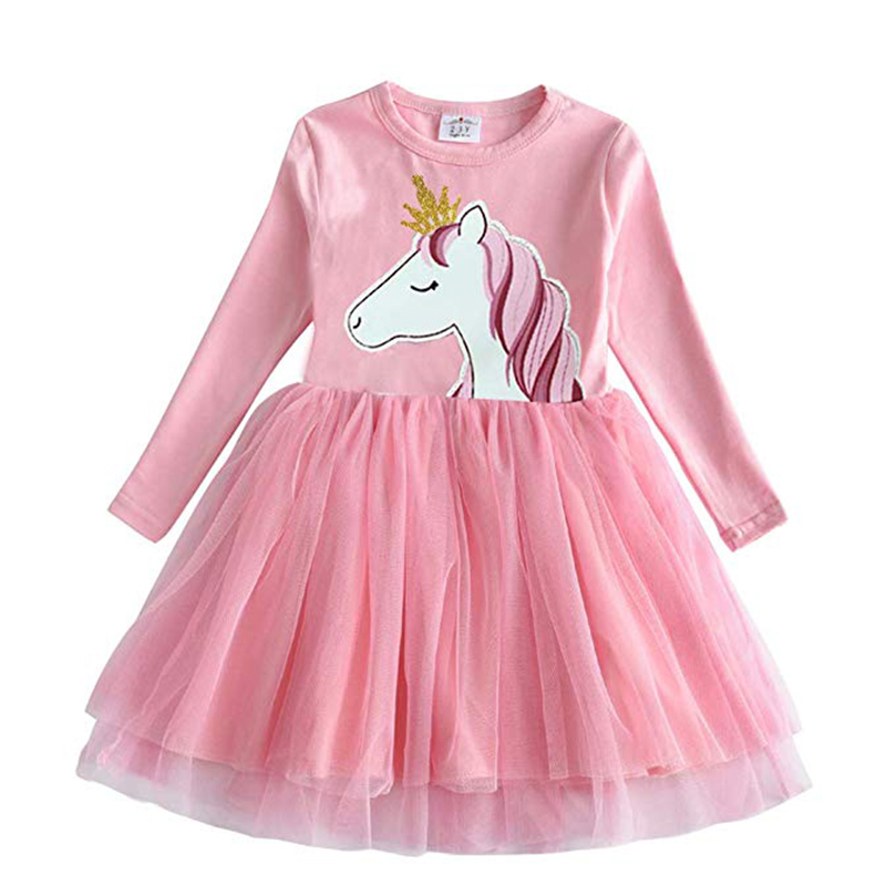 HTB1eEeDQFzqK1RjSZFoq6zfcXXaS DXTON 2018 New Girls Dresses Long Sleeve Baby Girls Winter Dresses Kids Cotton Clothing Casual Dresses for 2-8 Years Children