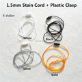 10pcs 1.5mm Satin Cord with Plastic Breakaway Clasps for Silicone Baby Teething Pendant Necklace Mom wearing