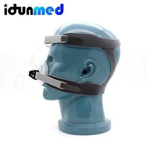 Image 4 - BMC Auto CPAP Neusmasker Siliconen Respirator 3 Size Kussens Met Verstelbare Hoofddeksels Band Voor Slaapapneu Anti Snurken