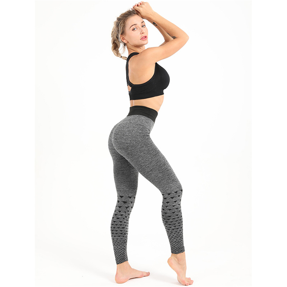 Ariel Sarah Yoga Pants Gray Leisure Gym Leggings Sport Women Fitness Sports Tights Woman Push Up Elastic Seamless Leggings(China)