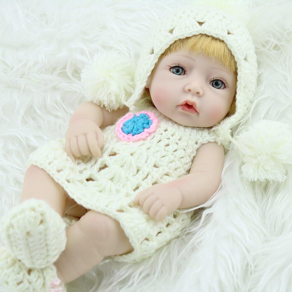 Silicone Reborn Baby Mini Doll Handmade Lifelike Vinyl ...