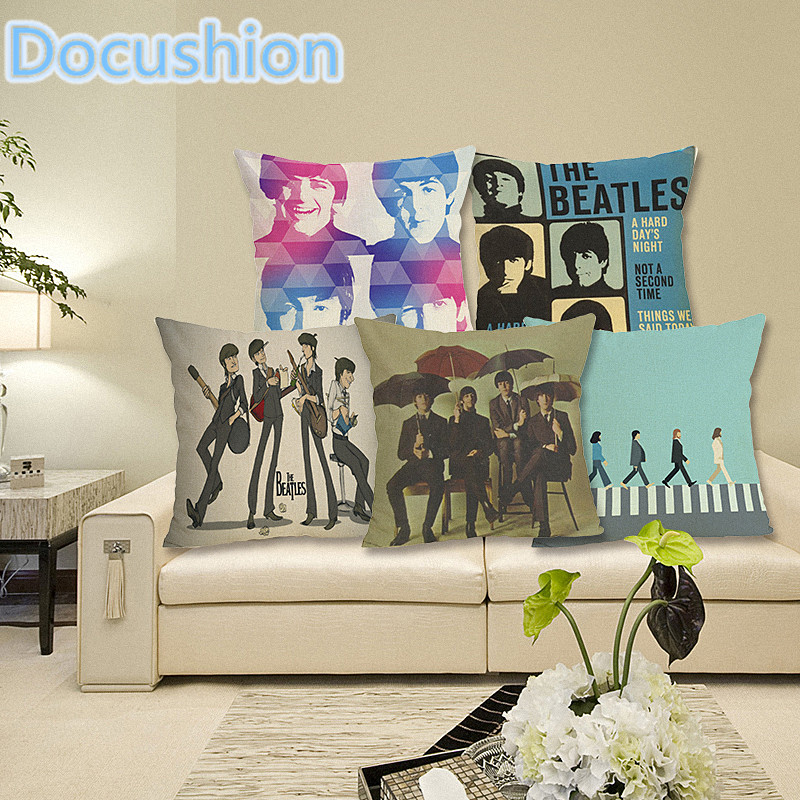 Portrait style fashion home decor cushion pillows beatles printed car home decorative throw - Enhance your home decor with fancy cushions ...