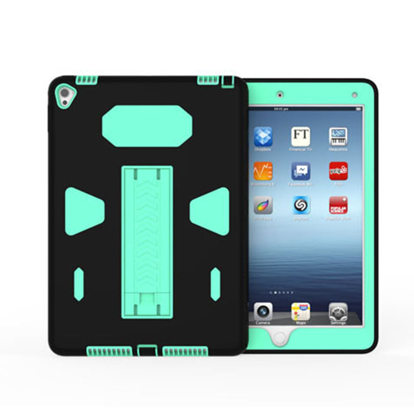 Case For Ipad Air 1 2 9.7 Inch Heavy Duty Silicone TPU + PC Hard Flexible Stand Armor Drop Shock Proof + Screen Protector ID702