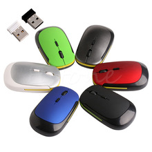 Ultra-Slim Mini USB 2.4G Wireless Optical Mouse Mice 1600 DPI Portable  Creative Mouse 2*AAA Replaceable Battery Powered
