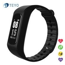 Teyo Спорт Smart Band W4S браслет Bluetooth 4.0 сердечного ритма сна Мониторы Фитнес трекер Водонепроницаемый смарт-браслет Android IOS