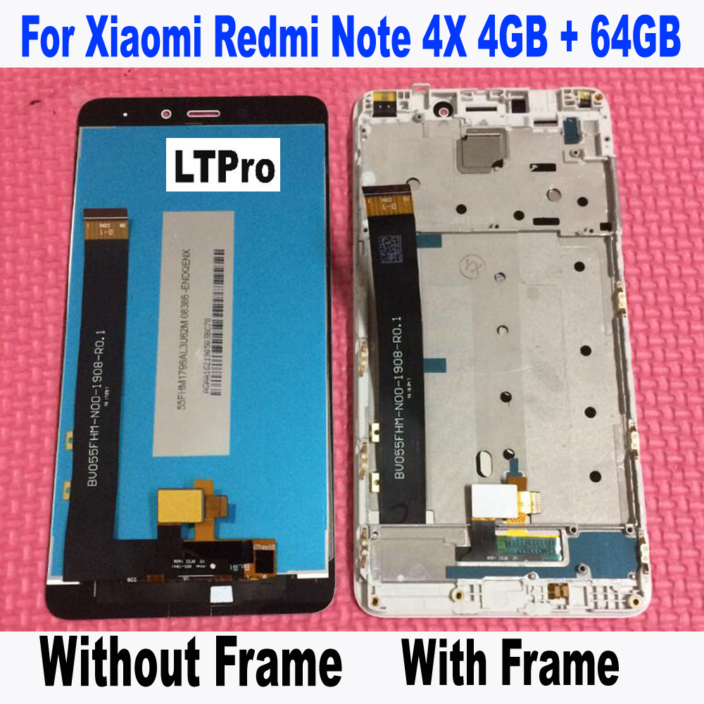LTPro Alta Qualità Tested LCD Touch Screen Digitizer Assembly con telaio per Xiaomi Redmi Nota 4X Pro Prime 4 GB 64 GB Phone Parts