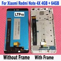 Ltpro高品質テスト済みlcdタッチスクリーンデジタイザアセンブリ付きフレーム用xiaomi redmi注4倍プロプライム4ギガバイト64ギガバイト電話部