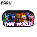 Women Small Tavel Neceser Makeup Bags,Teenager Five Nights at Freddys Print Pencil Bag for School Boy Girl Cosmetic Storage Case
