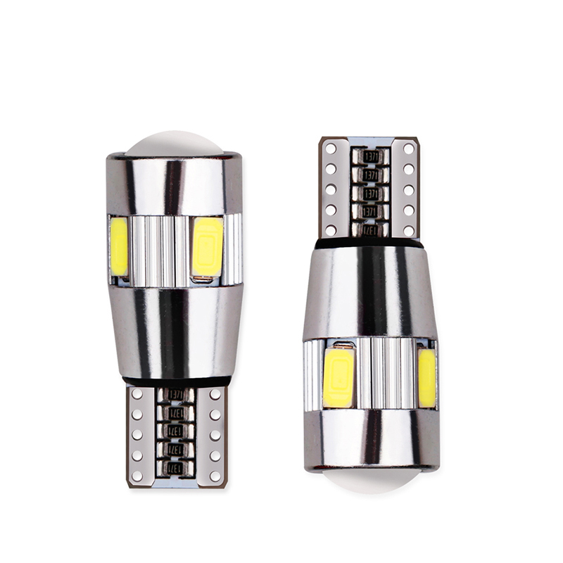 2pcs T10 Canbus Led Car Light 6smd 5630 Auto No Error Free 12V W5W 194 168 Bulb StopTurn Signal Interior Parking Light high t10 canbus 10pcs t10 w5w 194 168 5630 10 smd can bus error free 10 led interior led lights white 6000k canbus 300lm