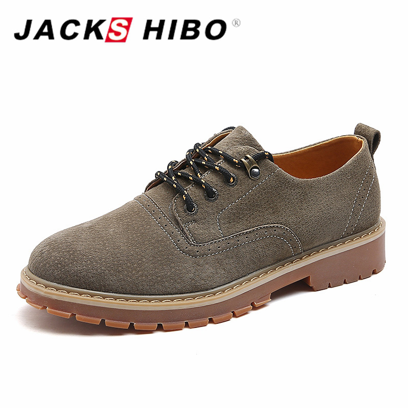 JACKSHIBO 2017 Brand New Autumn Men Leather Shoes Genuine Leather Gentle Man Retro Fashion Casual shoes Warm Men's Footwear new 2016 medium b m massage top fashion brand man footwear men s shoes for men daily casual spring man s free shipping
