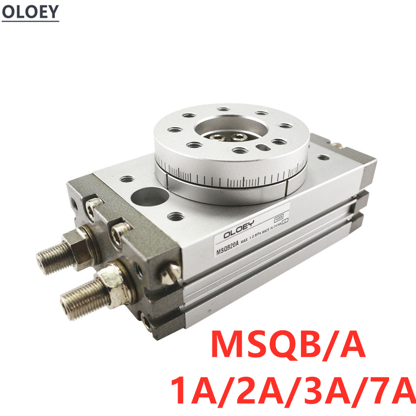 OLOEY MSQB/MSQA 1A 2A 3A 7A  180 degree Rack-and-pinion rotary cycloid Pneumatic cylinder MSQA1A MSQA2A MSQB1A MSQB2AOLOEY MSQB/MSQA 1A 2A 3A 7A  180 degree Rack-and-pinion rotary cycloid Pneumatic cylinder MSQA1A MSQA2A MSQB1A MSQB2A