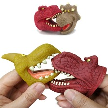 Dinosaur dolls 6 Kinds of Soft Rubber Toys Simulate Jurassic Tyrannosaurus Rex Model hand