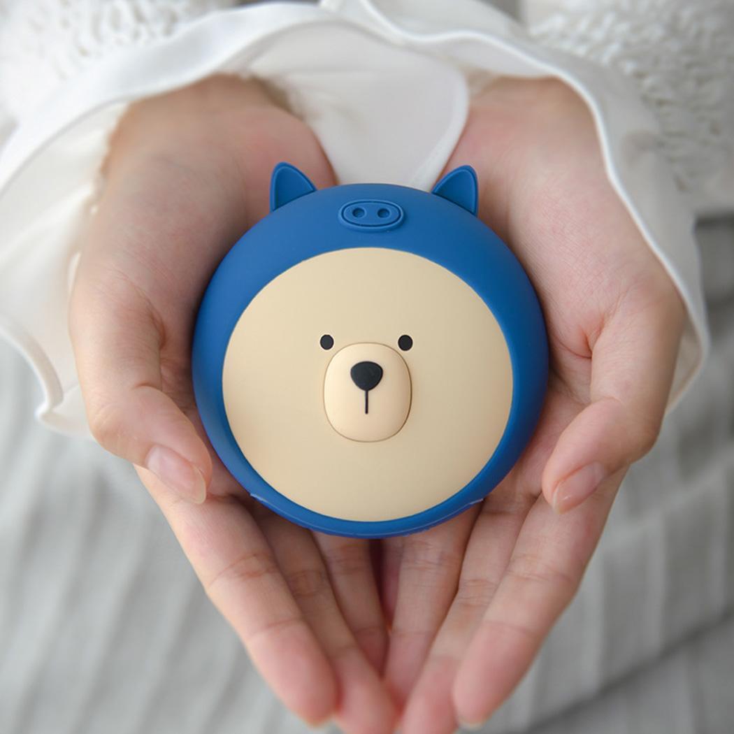 8000mAh Rechargeable Cute Bear Instant Heating Hand Warmer Power Bank External Battery Powerbank For Xiaomi MI iPhone X Note 8