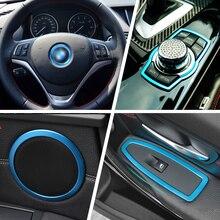 beler Window Switch Panel Cover + Door Speaker Trim + Steering Wheel Ring + Multimedia Button Cover For BMW 3 Series F30 F34 320