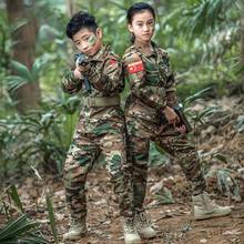 Boys Girls Hunting Camouflage Suit Children's Hunting Clothing Military Army Uniforms Tactical Suit Airsoft Combat Jacket Pant недорого