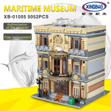 XingBao 01005 Blocks 5052Pcs Genuine Creative MOC City Series The Maritime Museum Set Building Blocks Bricks Toys Model Gifts dhl lepin 05083 star classic wars moc series the nebulon b medical frigate set building blocks bricks funny toys model legoed