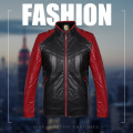 Men 's long - sleeved fight color motorcycle jacket new fit - type jacket zipper warm winter jacket