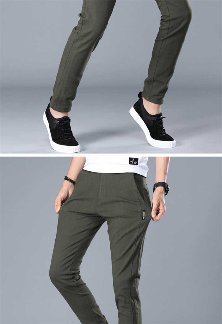 Mens Casual Tapered pants Chinos 4