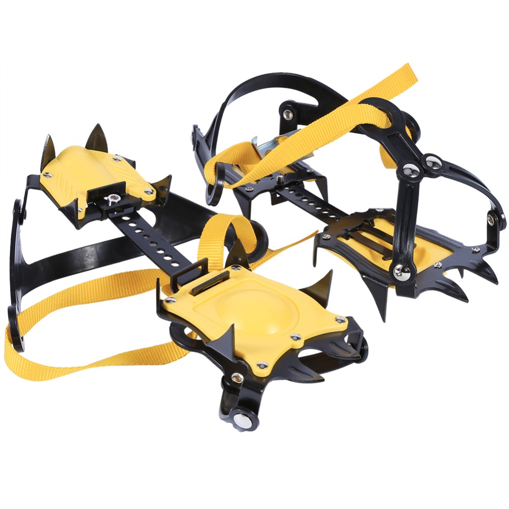 1pair Crampons Ice Spikes for shoes Cleat Ice Gripper Anti Slip Snow Ice spikes Walking Shoe Spike Grip Ice Climb 10-teeth Щипцы