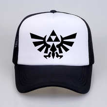 купить Game The Legend of Zelda Breath of the Wild Skyward Sword Symbol Hat Cosplay Baseball Caps summer mesh trucker cap hats дешево