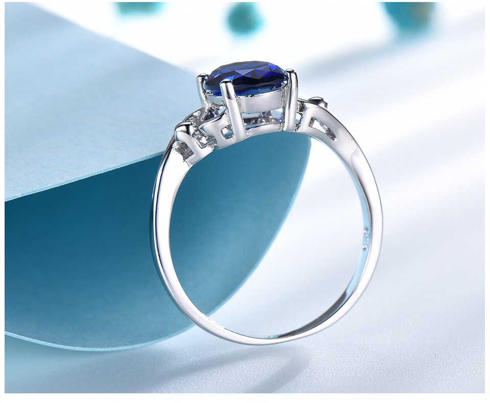Honyy Sapphire 925 sterling silver rings for women RUJ089S-1-PC (5)