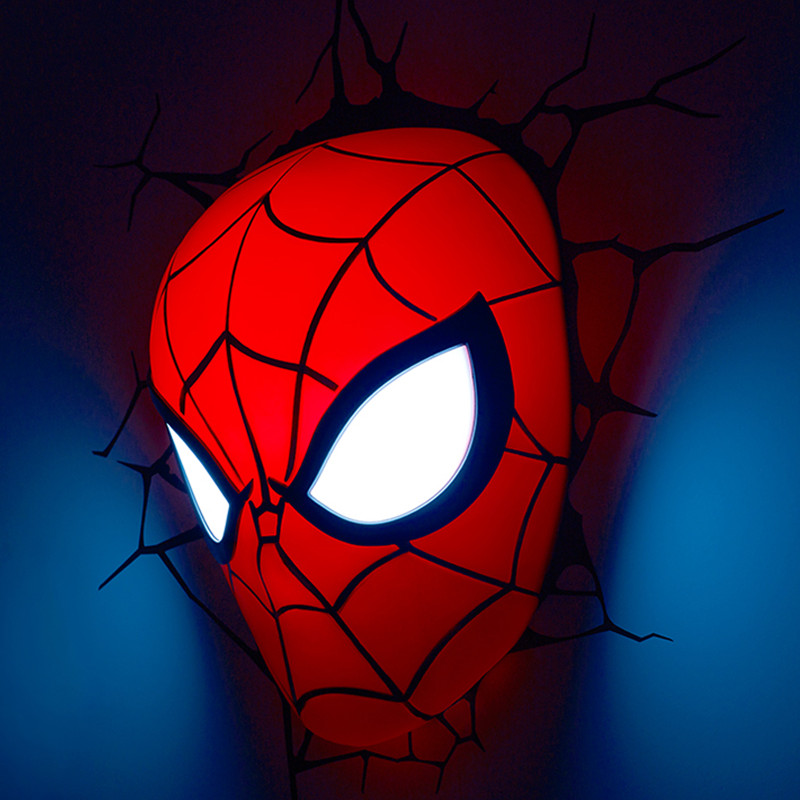 9 Inches Justice League Superhero Spider-Man Tom Holland Tobey Maguire Andrew Garfield 3D Wall Lamp With LED Light S586 цены