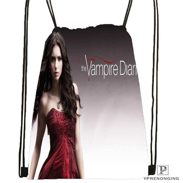Custom The_vampire_diaries_  Drawstring Backpack Bag Cute Daypack Kids Satchel (Black Back) 31x40cm#2018611-2(22)